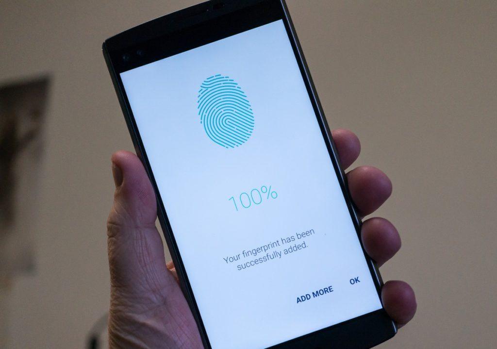 LG unveils fingerprint sensor module